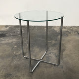 Liv'it Brand New Discounted Glass Top & Chrome Base Side Table