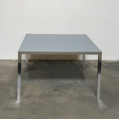 MDF Italia Gray Glass and Chrome LIM 04 Dining Table
