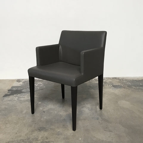 Poltrona Frau Gray Leather Liz B Armchair