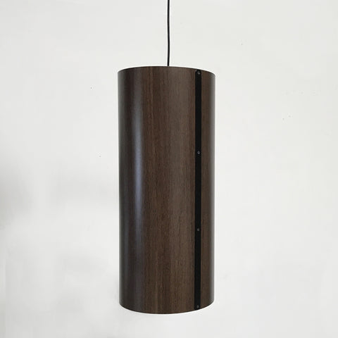Cylinder Wood Veneer Suspension Lamp