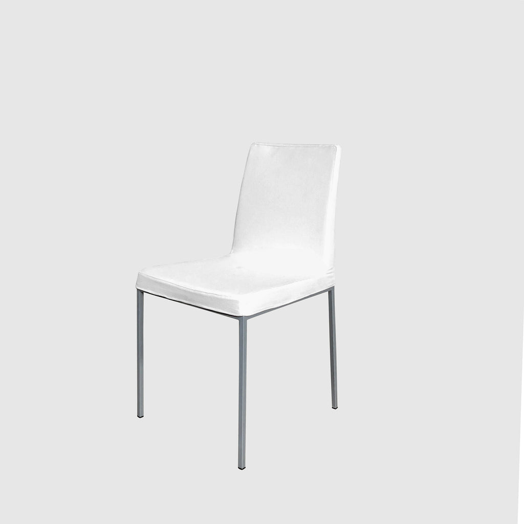 White Fabric Dining Chair (set of 4), Dining Chair - Modern Resale