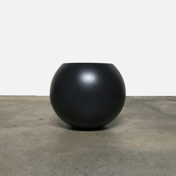 Cappellini Anthracite Satin Bong Side table by Giulio Cappellini