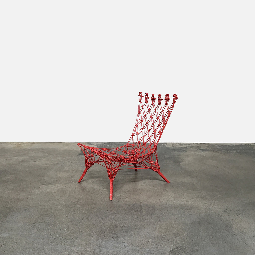 Cappellini Limited Edition Red Knotted Chair by Marcel Wanders