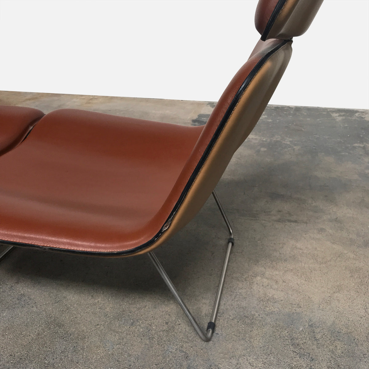 Spring Leather Lounge Chair