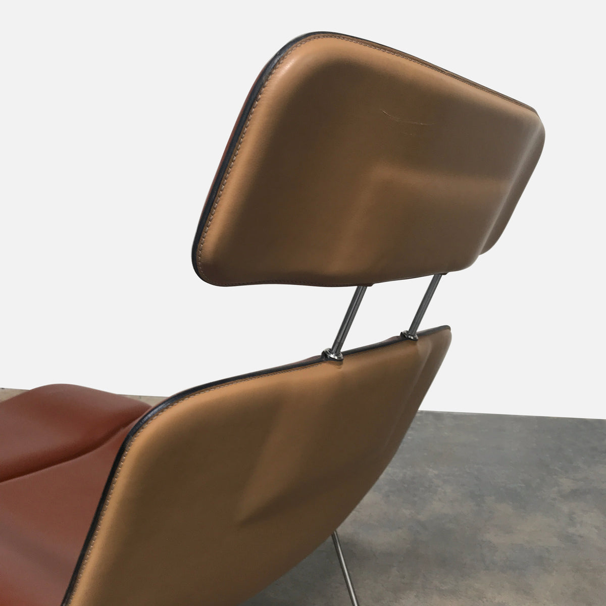 Cappellini Spring Leather Lounge Chair by Erwan Bouroullec