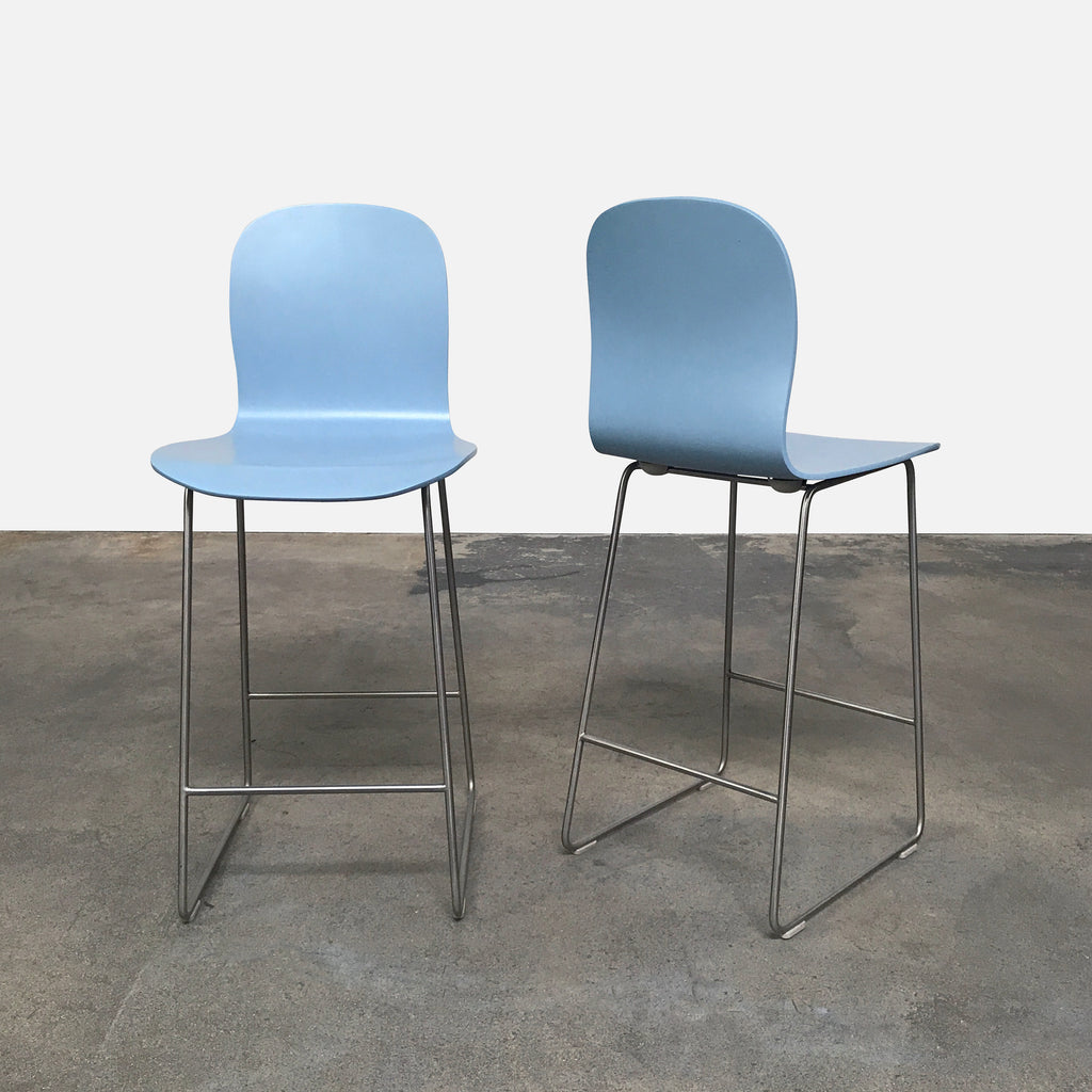 Marvelous Cappellini Light Blue Tate Stool By Jasper Morrision La Squirreltailoven Fun Painted Chair Ideas Images Squirreltailovenorg