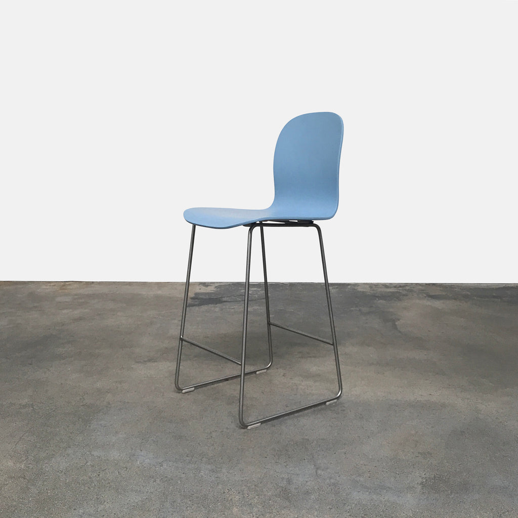 Cappellini Light Blue Tate Stool by Jasper Morrision | LA Consignment