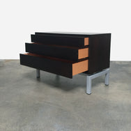 Cassina Wenge 3-Drawer Dresser with Metal Base