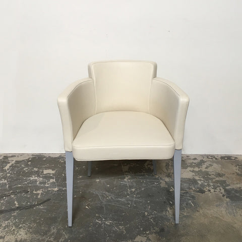 Cassina Discontinued and Discounted Cream Leather 364 Dining Chairs