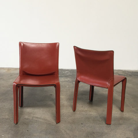Cassina-Cab-Chairs-Rosso-Cina-leather-Mario-Bellini