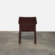 Cassina Cab Brown Leather Side Chair by Mario Bellini | Consignment