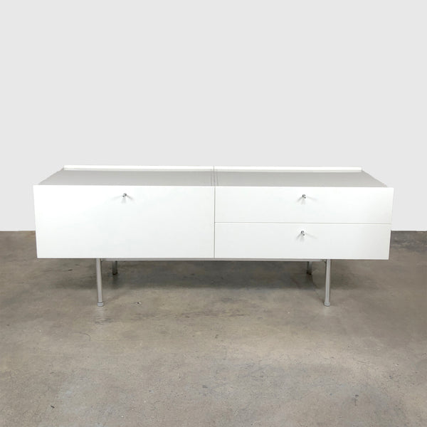 Cassina '255-256 Flat' White Lacquer Sideboard (2 in stock)