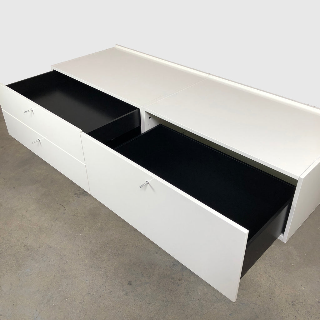 Cassina '255-256 Flat' White Lacquer Sideboard (2 in stock) by Pierro Lissoni
