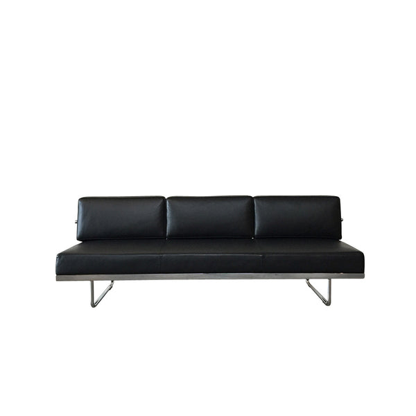 Cassina Black Leather LC5.F Sofa | Los Angeles | Consignment