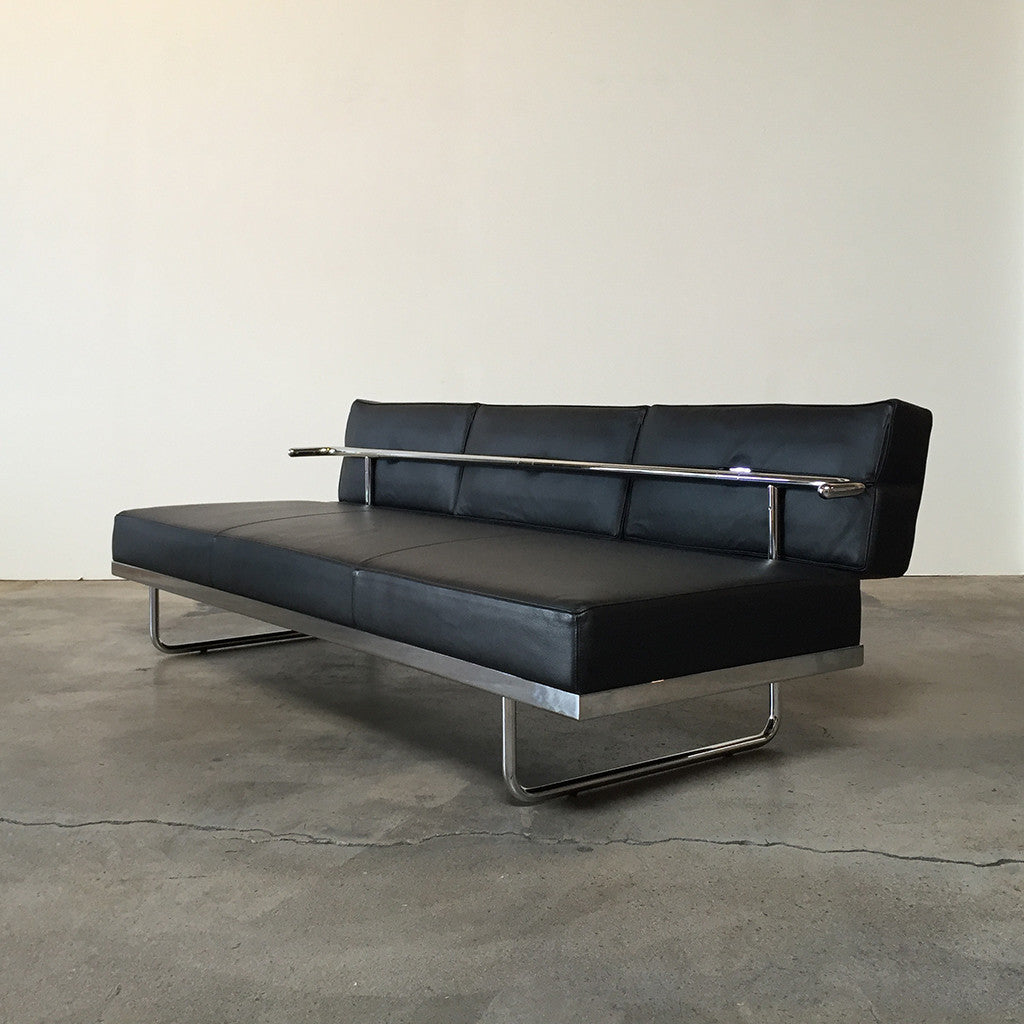 Nice ... Cassina Black Leather Lc5 F Sofa Los Angeles Consignment ...
