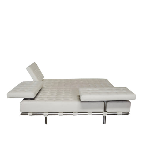 Cassina 'Prive' White Leather Daybed by Philippe Starck | Los Angeles