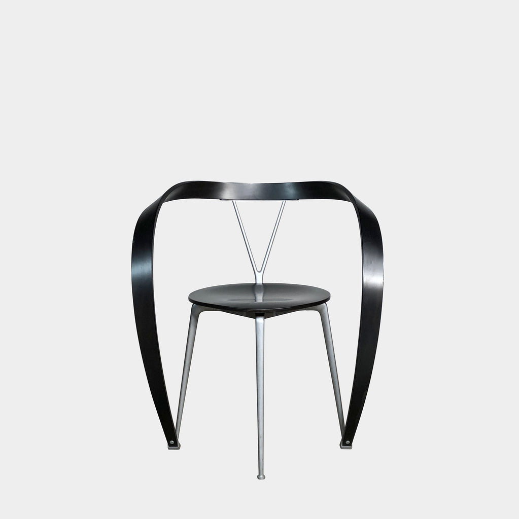 Cassina 'Revers' Black Beech Wood Armchair by Andrea Branzi