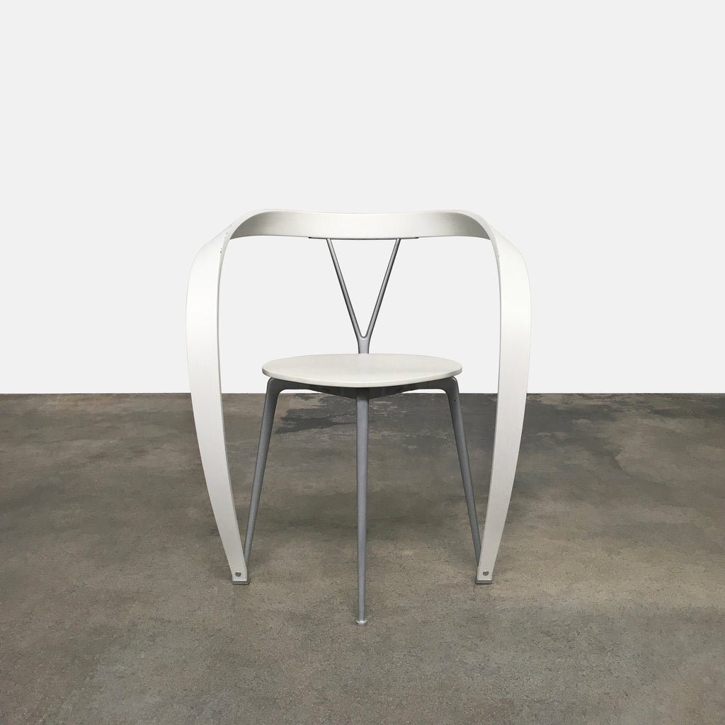 White Revers Chair, Dining Chair - Modern Resale