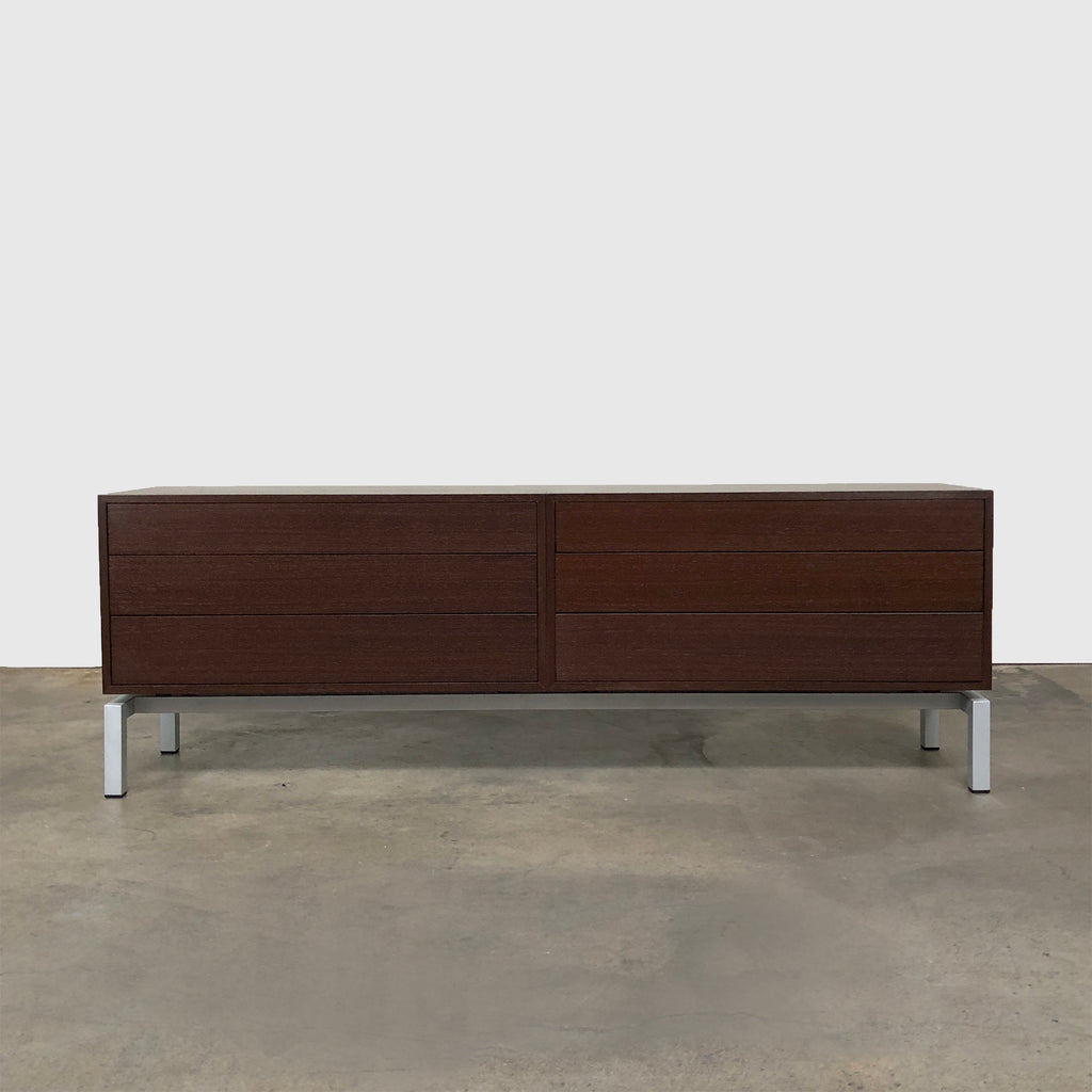 Cassina Brown Oak L15 Xen Dresser by Hannes Wettstein