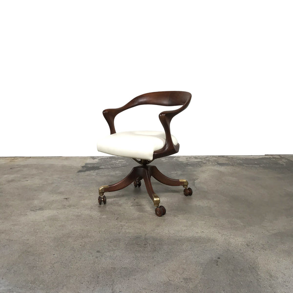 Ceccotti Collezioni Marlowe Office Swivel Chair by Roberto Lazzeroni