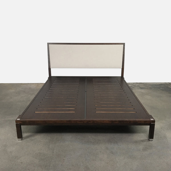 Ceccotti Colllezioni Wood/Fabric Minimal Queen Bed