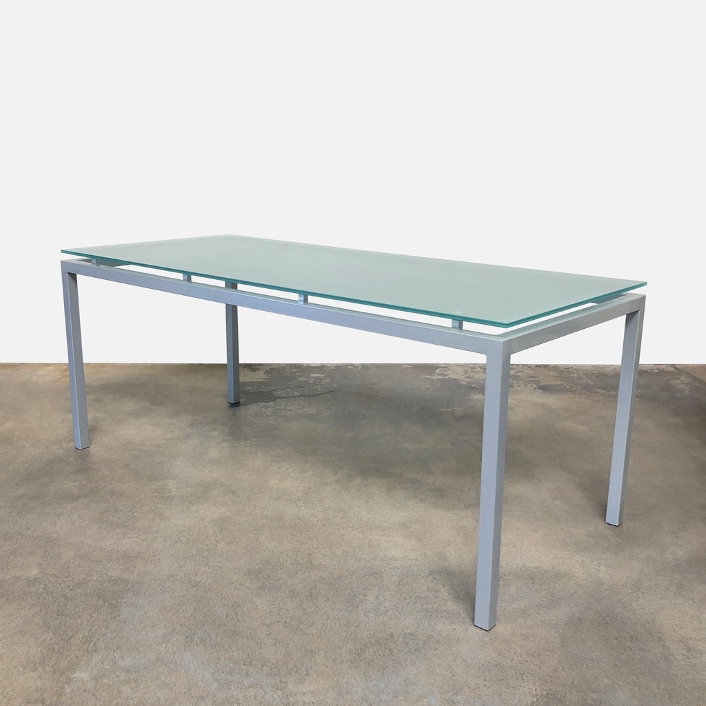 Frosted Glass Dining Table, Dining Table - Modern Resale
