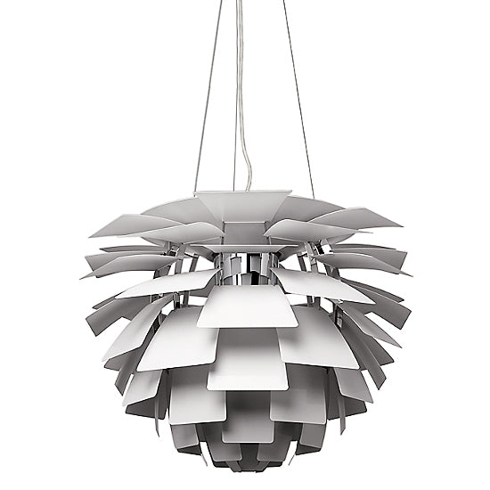 Louis Poulsen White PH Artichoke Ceiling Lamp by Poul Henningsen