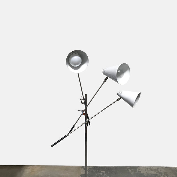 DWR White Tri-Arm Floor Lamp | LA | Consignment