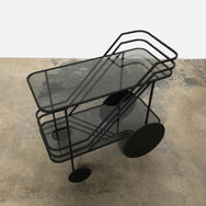 Dante Goods and Bads Black Iron Come As You Are Rolling Bar Cart