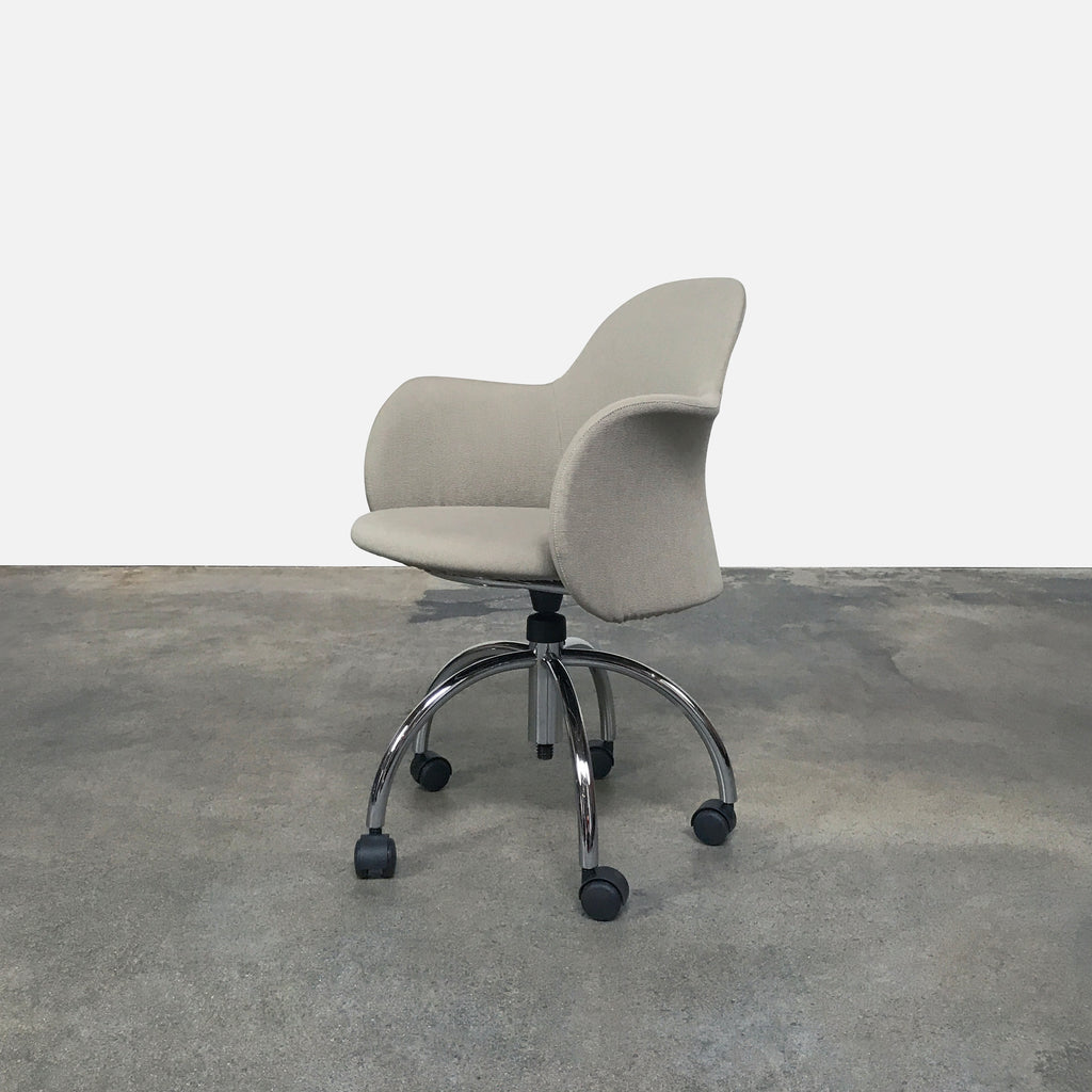 Flower Swivel Chair with Castors, Swivel Chair - Modern Resale