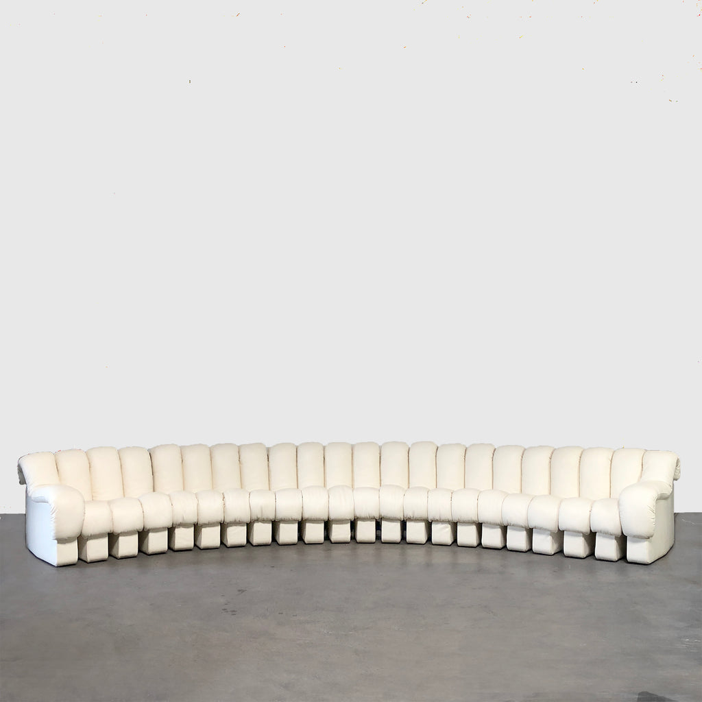 De Sede 'Non Stop' Cream Caterpillar Leather Sofa Brand New/ Rare Find