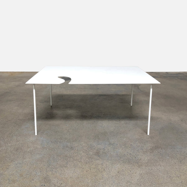 Desalto White Lacquer Softer Than Steel Coffee Table by Nendo