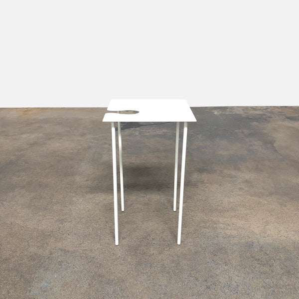 Desalto White Lacquer Softer Than Steel Side Table by Nendo