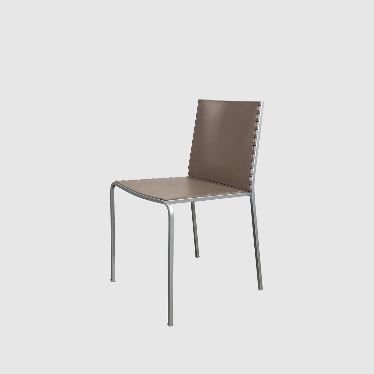 Desalto Zip Dining Taupe/Brown Chair by Marco Maran (8 in stock)