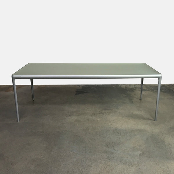Driade Aluminum Flat Egg Dining Table by Philippe Starck
