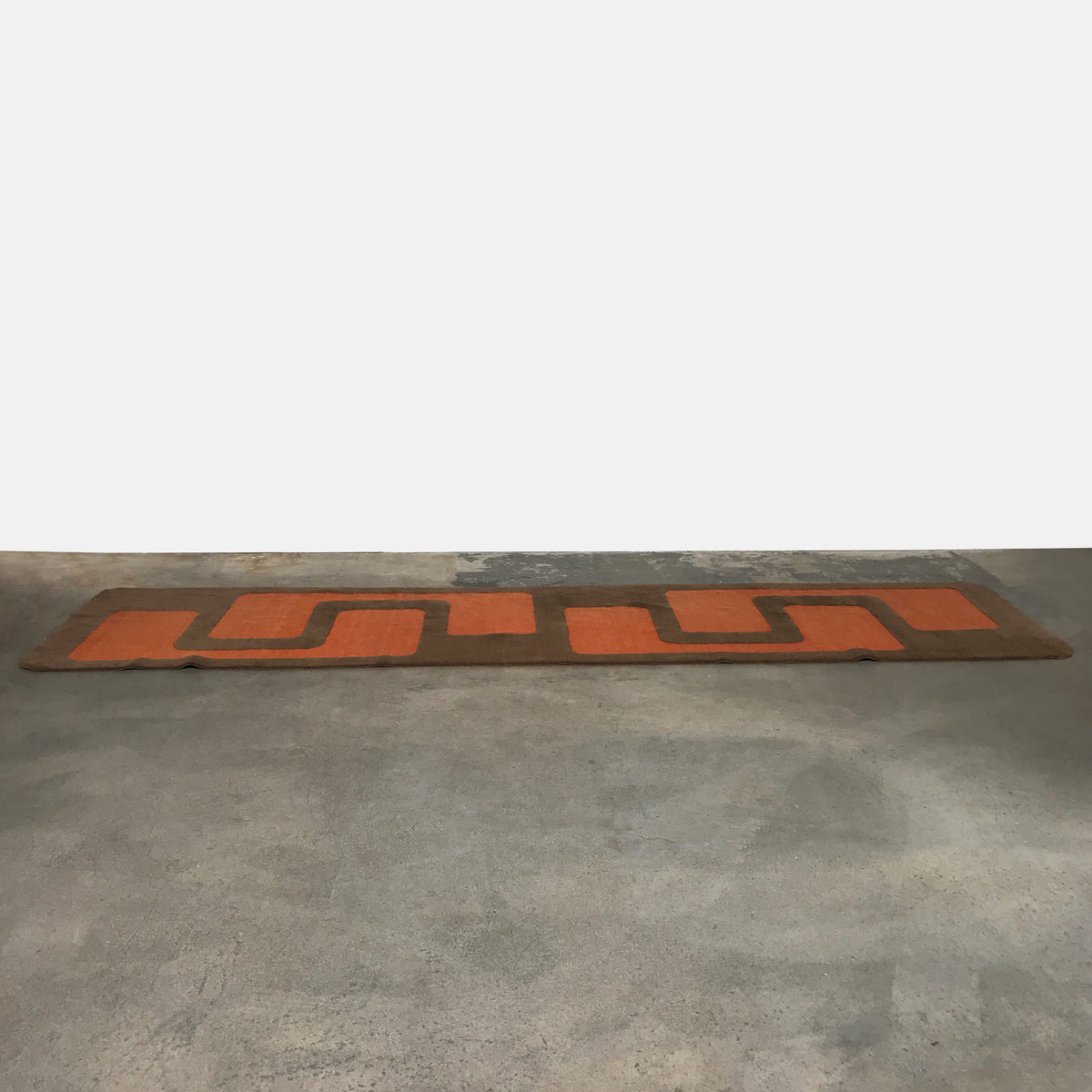 Elson and Company Orange and Green Rug Runner | LA | Consignment