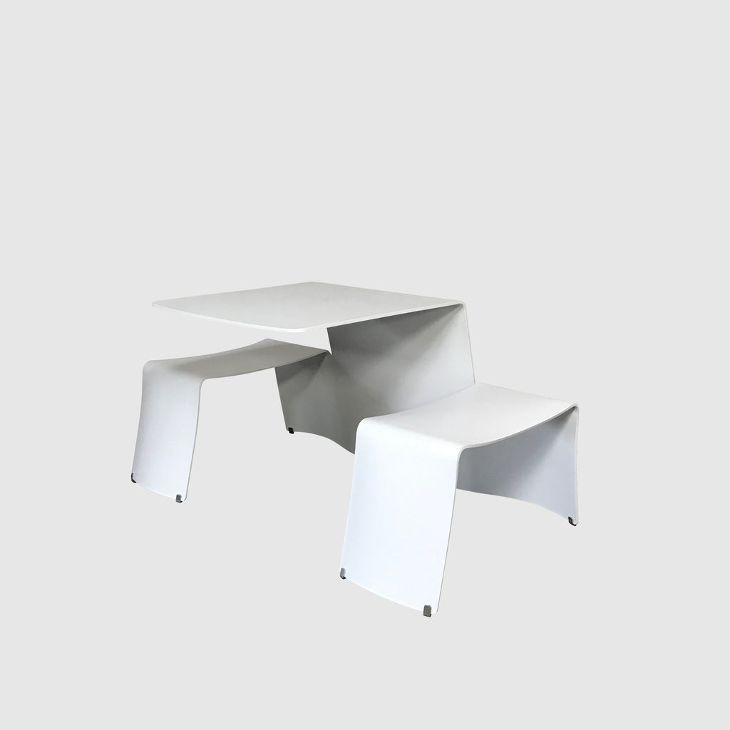 Extremis White 'Picnik' Dining Table by Dirk Wynants & Xavier Lust