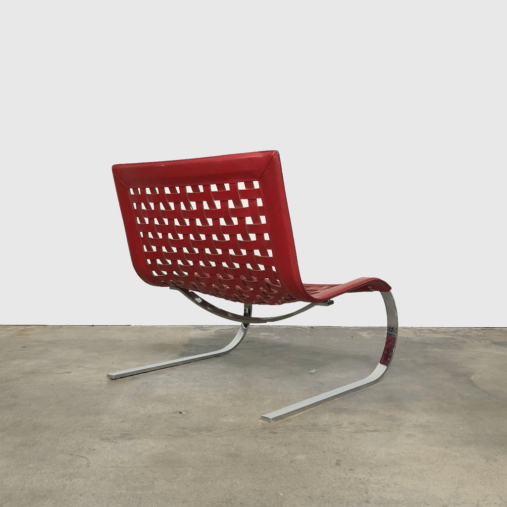 Fasem 'O'Miles' Red Leather Lounge Chair