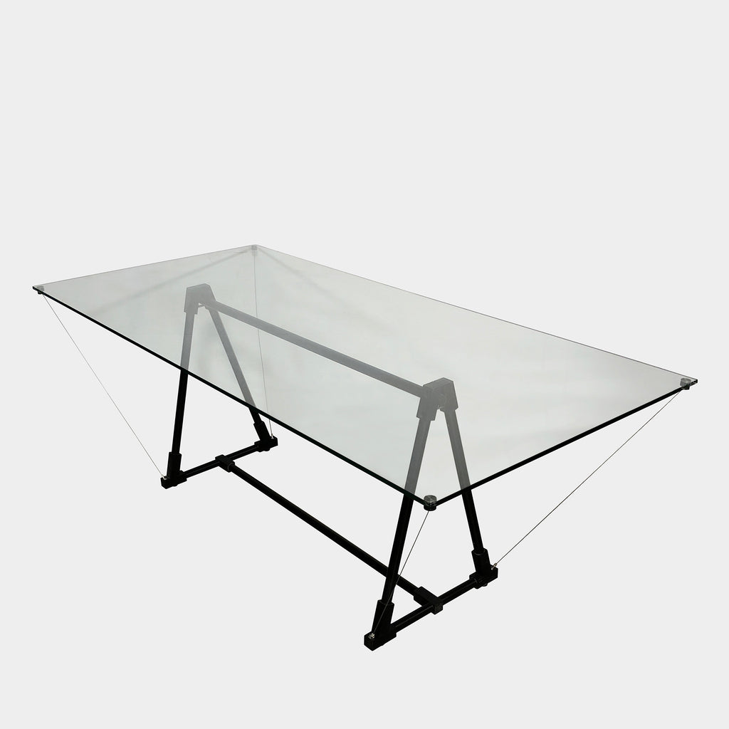 Glass Multi-Functional Table, Dining Table - Modern Resale