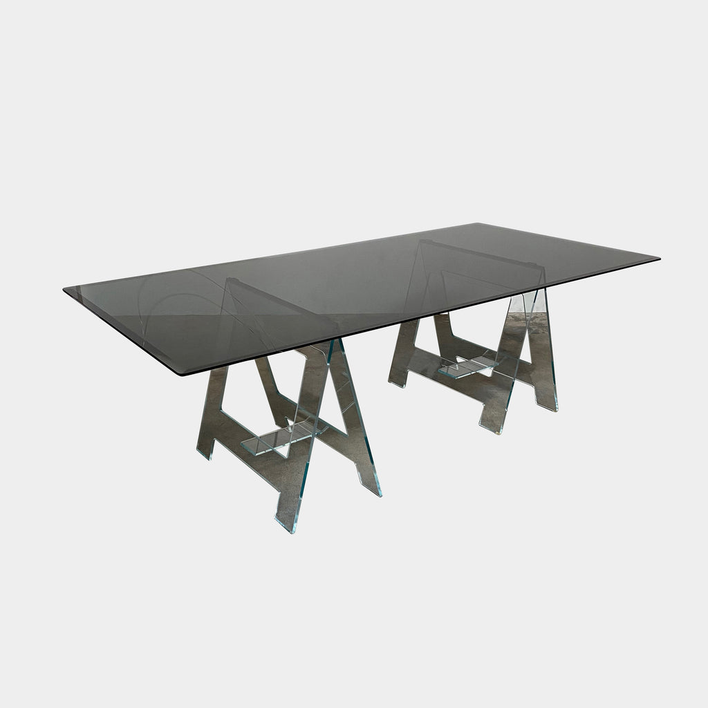 Glas Italia Black Glass Don Cavaletto Table by Jean-Marie Massaud | Los Angeles | Consignment