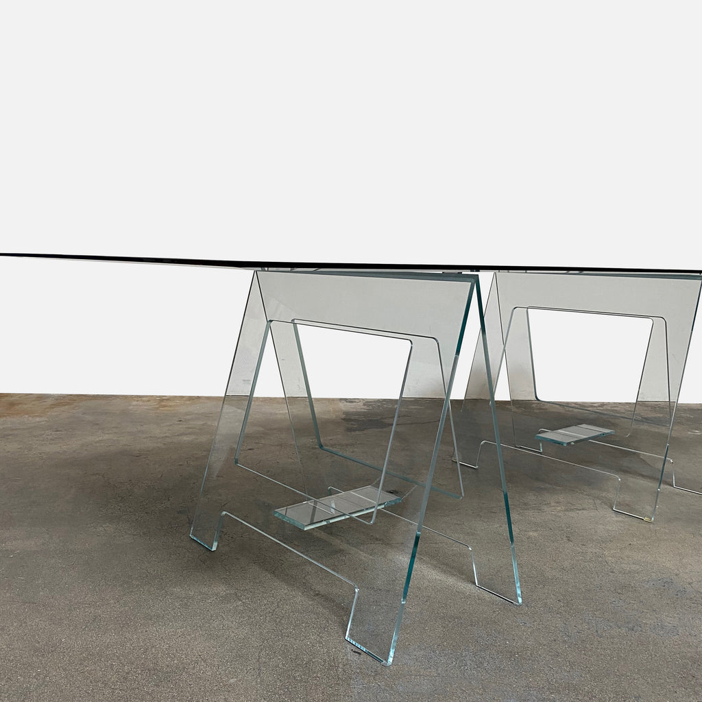 Base: Glas Italia Black Glass Don Cavaletto Table by Jean-Marie Massaud