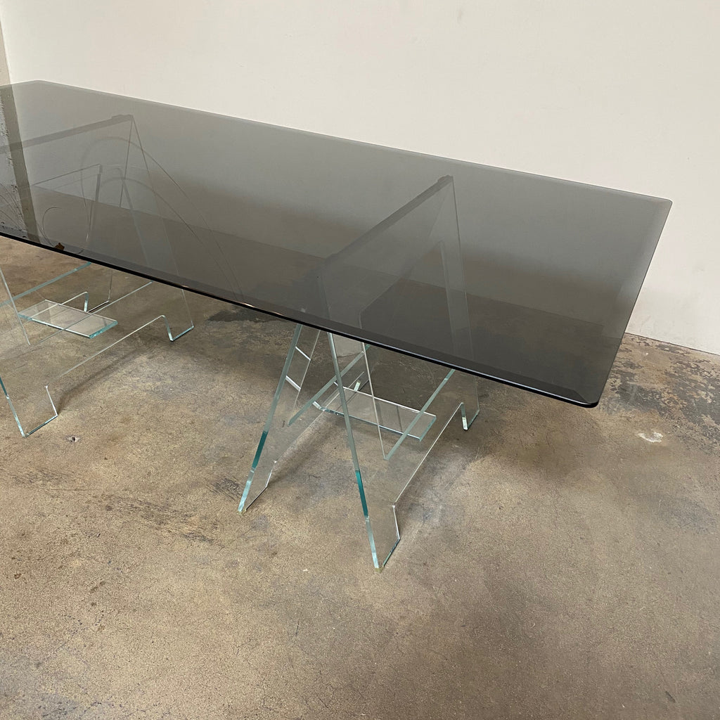 Glas Italia Black Glass Don Cavaletto Table by Jean-Marie Massaud