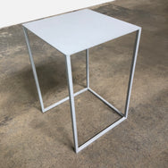 Contemporary Gray Steel Side Table | Los Angeles | Consignment