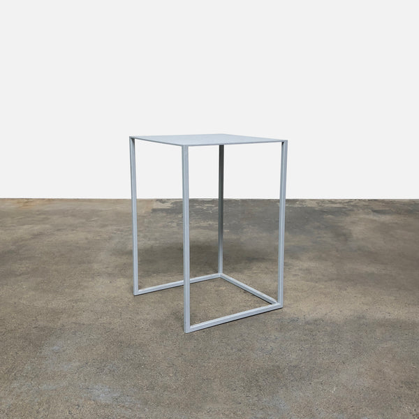 Gray Steel Side Table