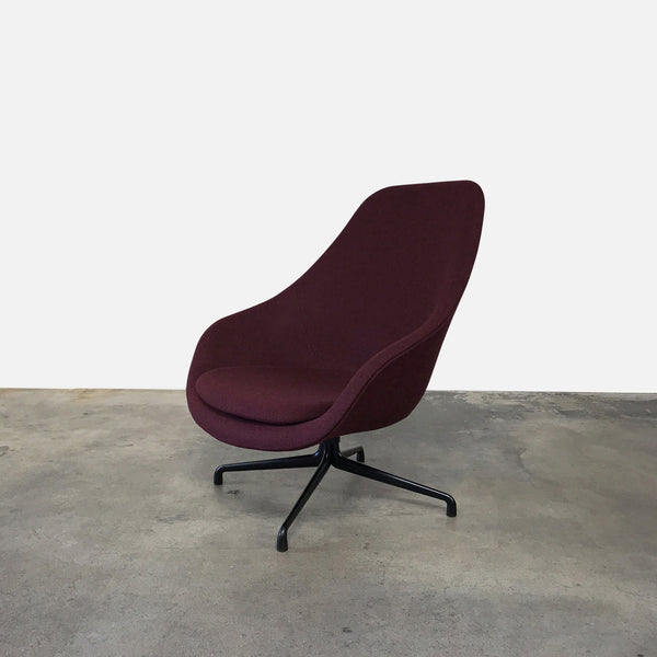 Hay About A - AAL81 Plum Fabric Lounge Chair by Hee Welling