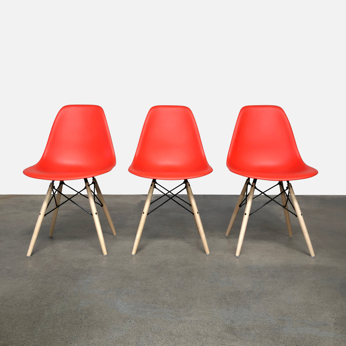Eames Molded Plastic Side Chair with Dowel Base (3 in stock)