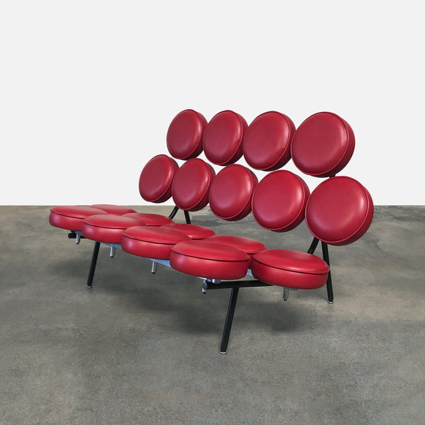 George Nelson Red Marshmallow Leather Sofa | LA | Consignment