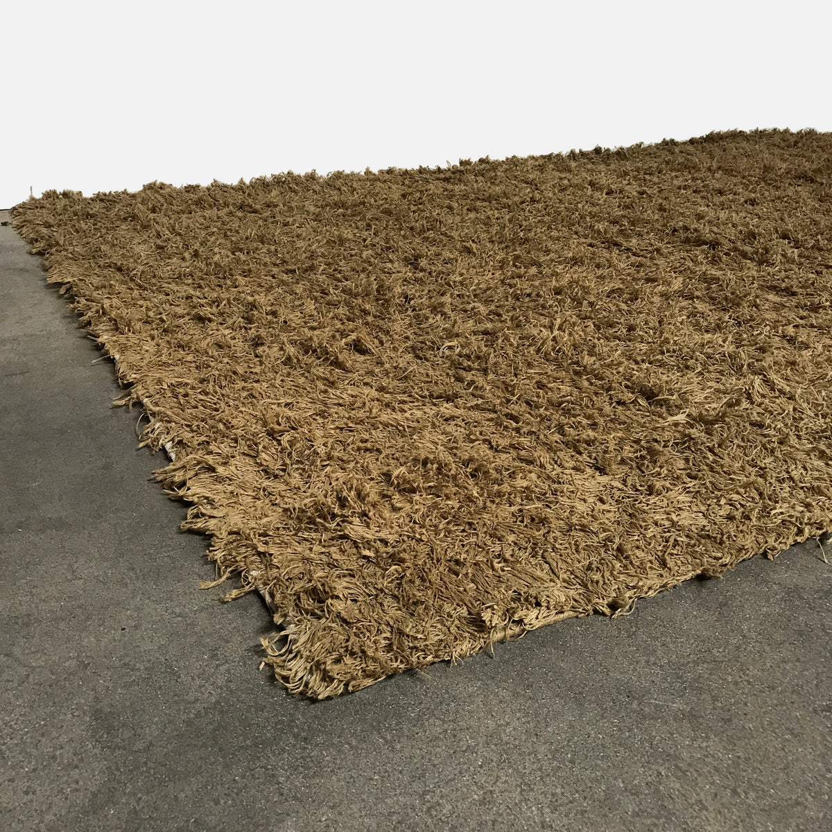 I + I Hand-knotted Brown Shag Rug | LA | Consignment