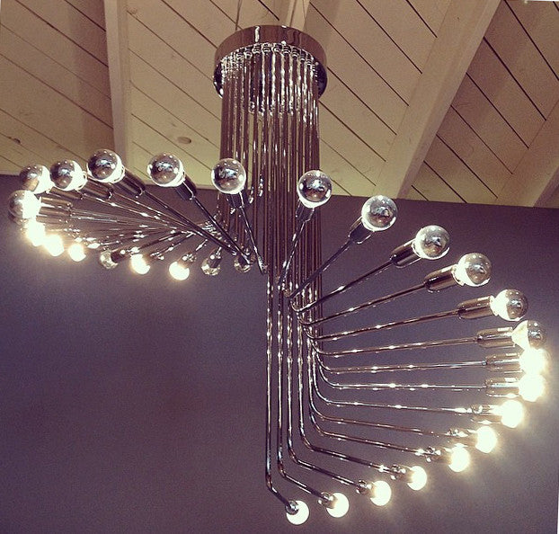 Spirale Chandelier, Ceiling Light - Modern Resale