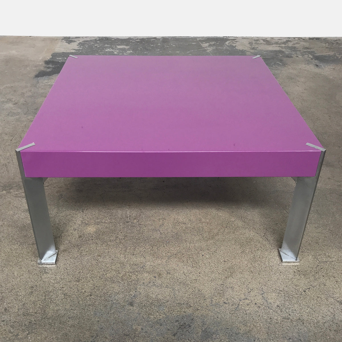 Purple Lacquer Side Table